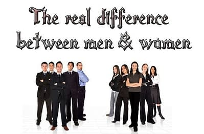 difference between men and women