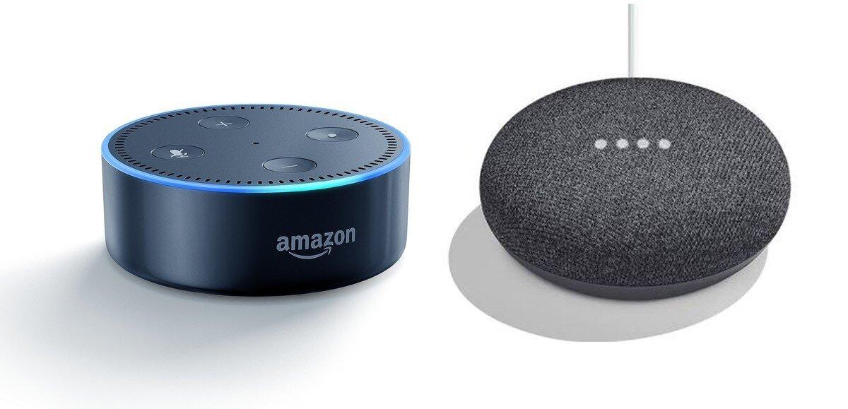 Google Home Mini versus Amazon's Echo Dot