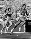 Jackie Joyner-Kersee running for USA at the Olympics in the 1980s. STAFF / AFP / Getty Images / CBS News.