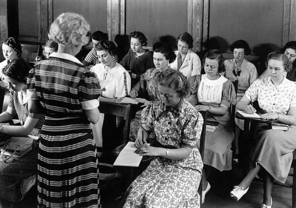 Women at Radcliff Institute at Harvard. library.hbs.edu.